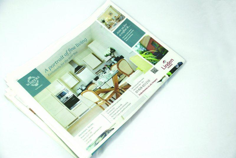 Linden Homes Newspaper Advert | web design portsmouth