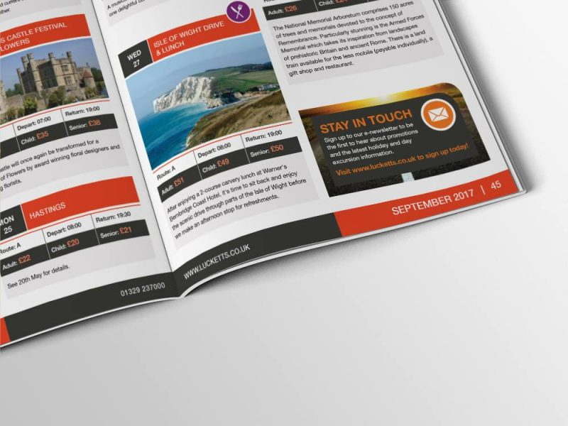 LUCKETTS BROCHURE SNIPPET | web design southampton