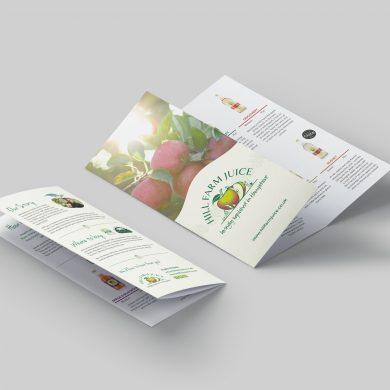 Hill Farm Juice Gatefold Leaflet