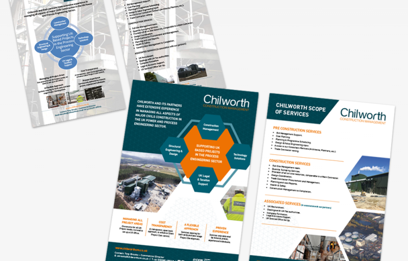 Chilworth Construction Management A4 Flyer Re-Design