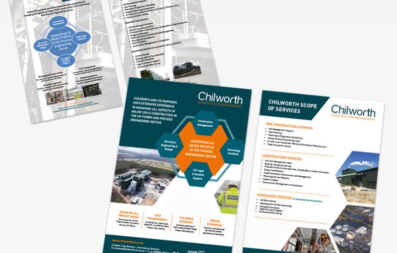 Chilworth Construction Management A4 Flyer Re-Design
