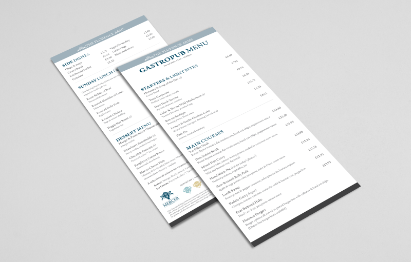 web design hampshire mercer collection menu design