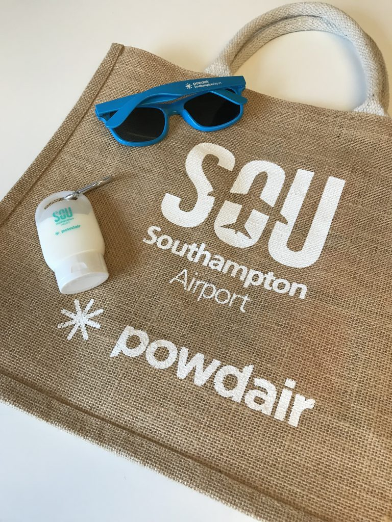 powdair and Southampton Airport promotions