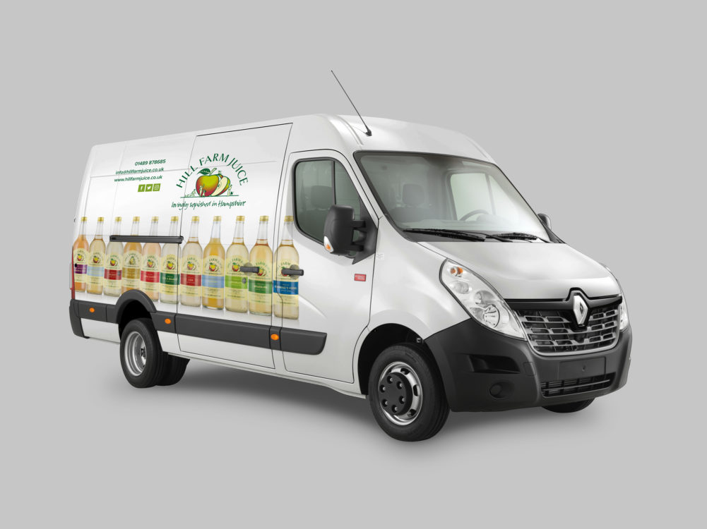 Hill Farm Juice Van Graphics