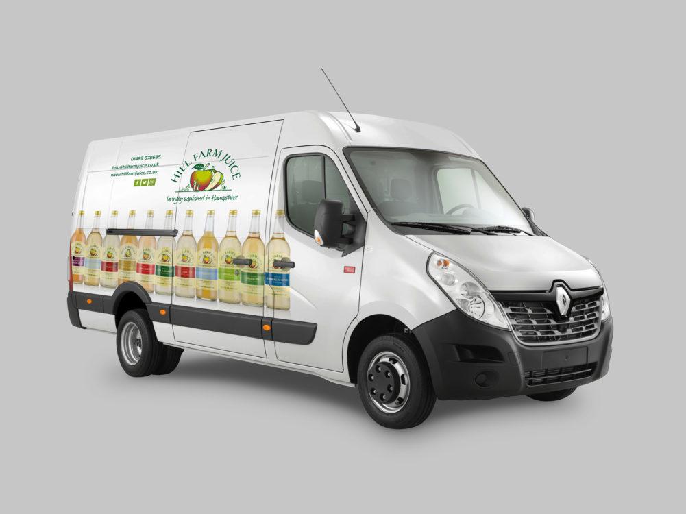 Hill Farm Juice Van Graphics