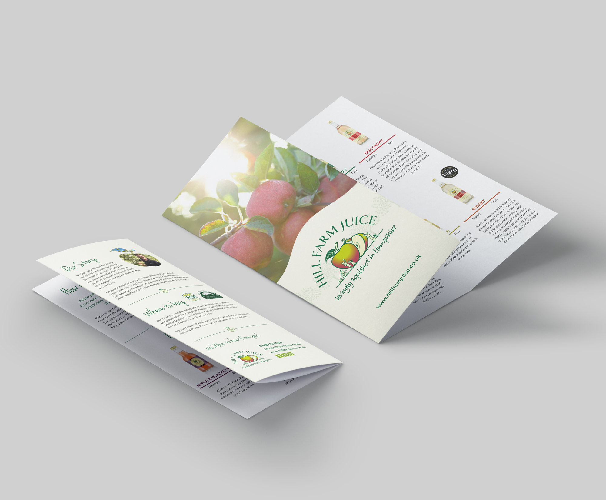 Hill Farm Juice Leaflet Design