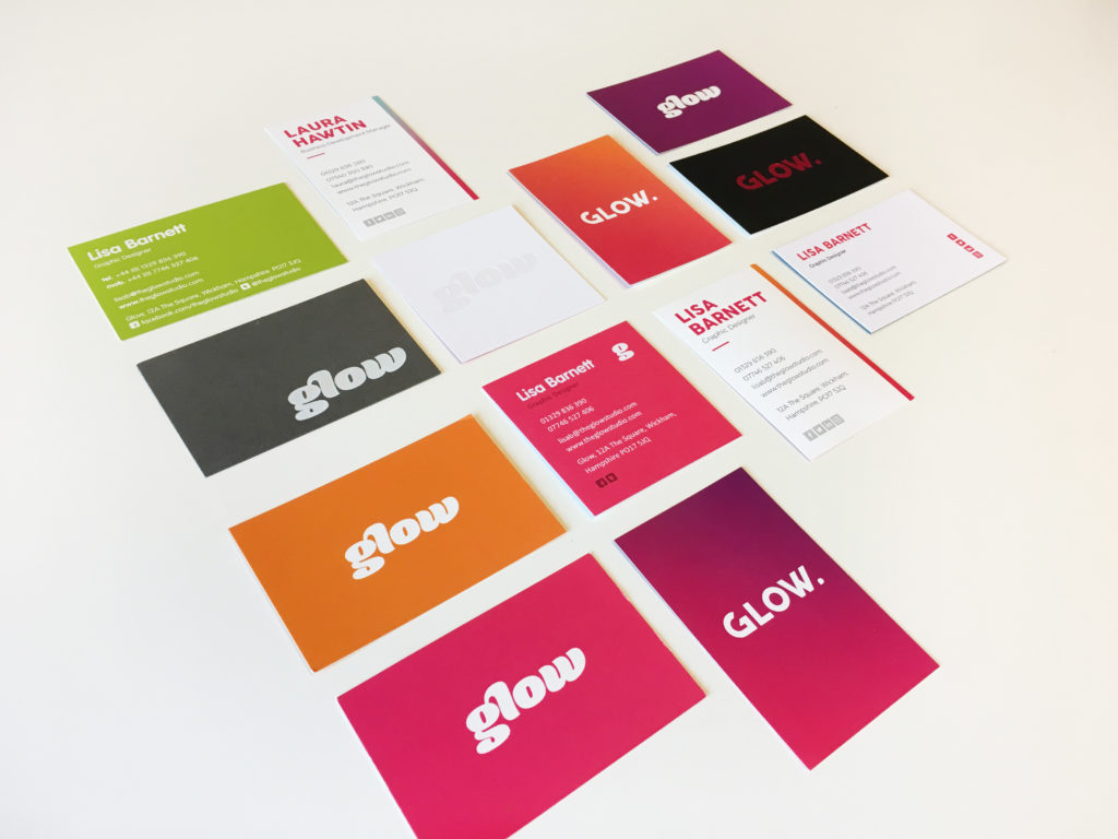 Glow Business Cards