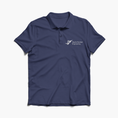 Aquila branded embroided polo shirt merchandise