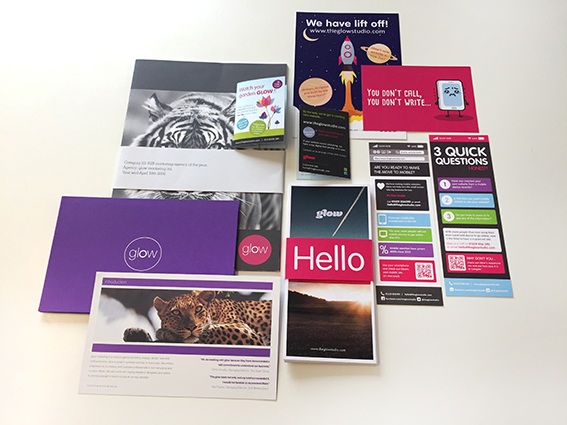 Old Glow Marketing Materials from Portfolio