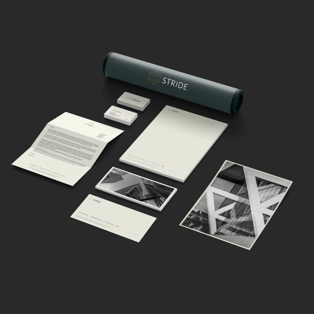 Stride Branding Stationery Design