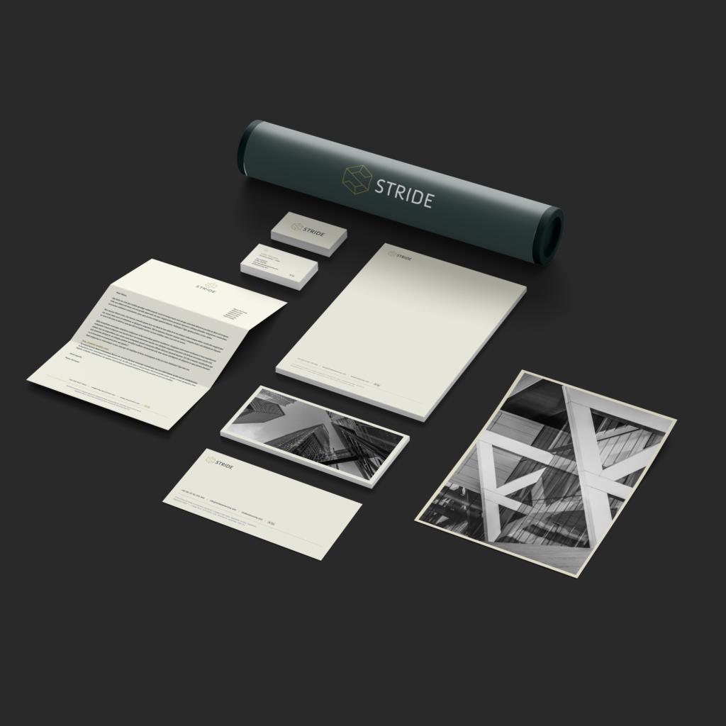 Stride Branding Stationery Design