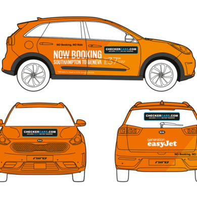 easyJet Taxi_Wrap_Graphics