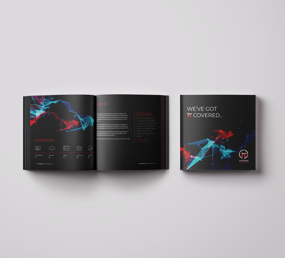 Brochure design for Interpro Technology