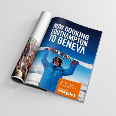 easyJet print advert