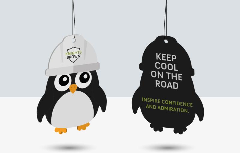 Knights Brown Air freshener design Branding