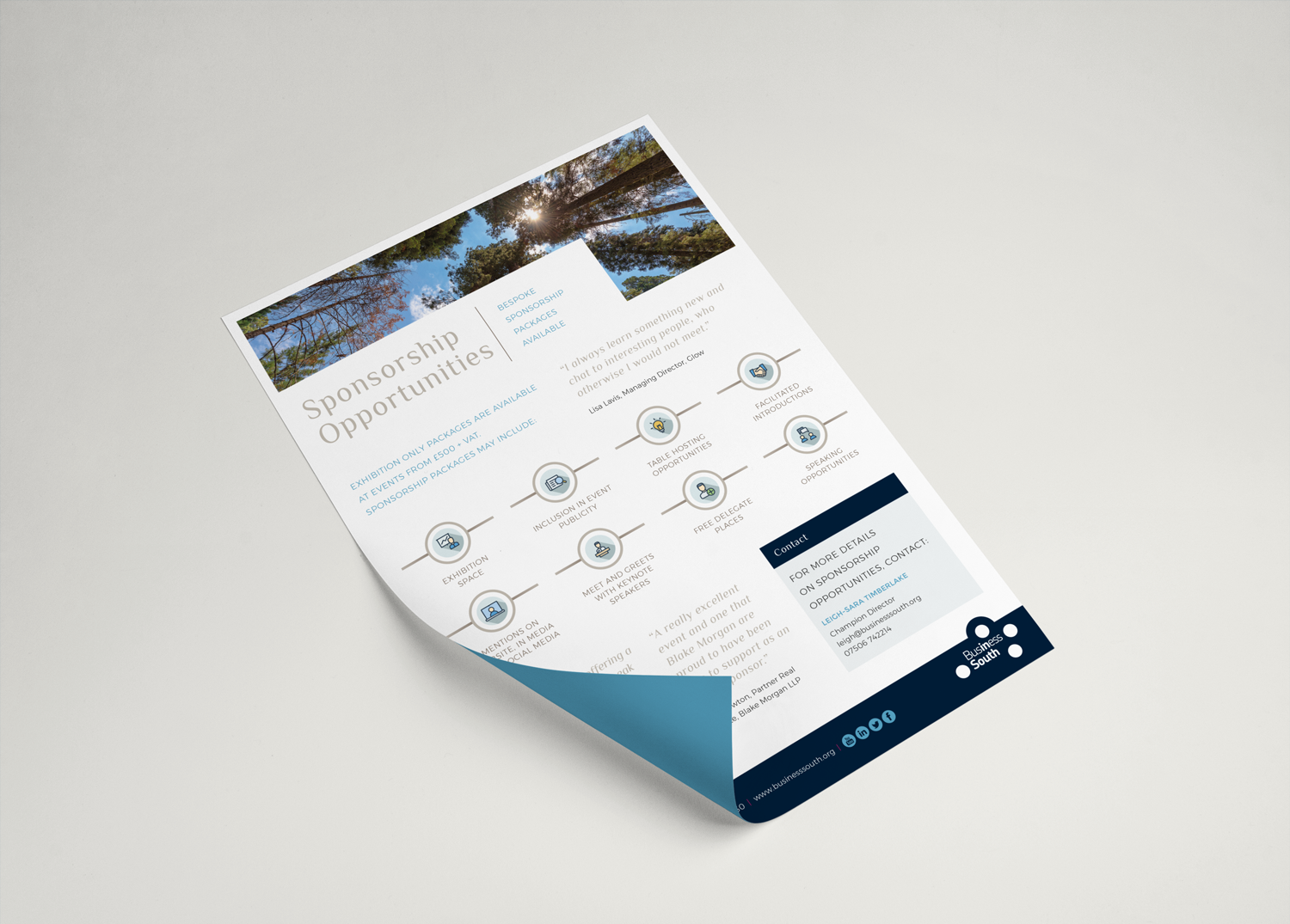 Business South Promotional Sheet