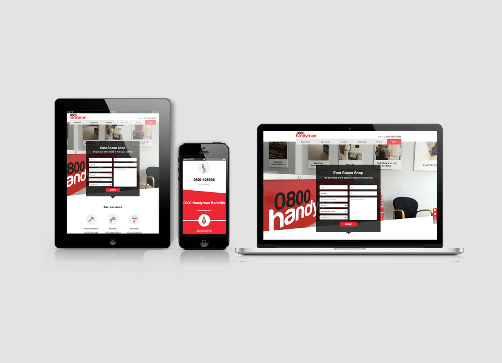 New 0800 Handyman Website