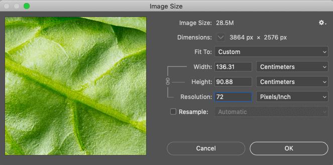 Image Quality 72dpi