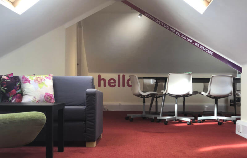 Loft Space Meeting room for hire, Wickham, Fareham, Portsmouth, Hampshire