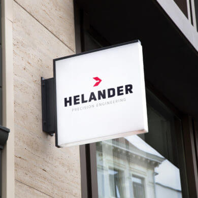 Helander Precision Engineering Brand Logo Design
