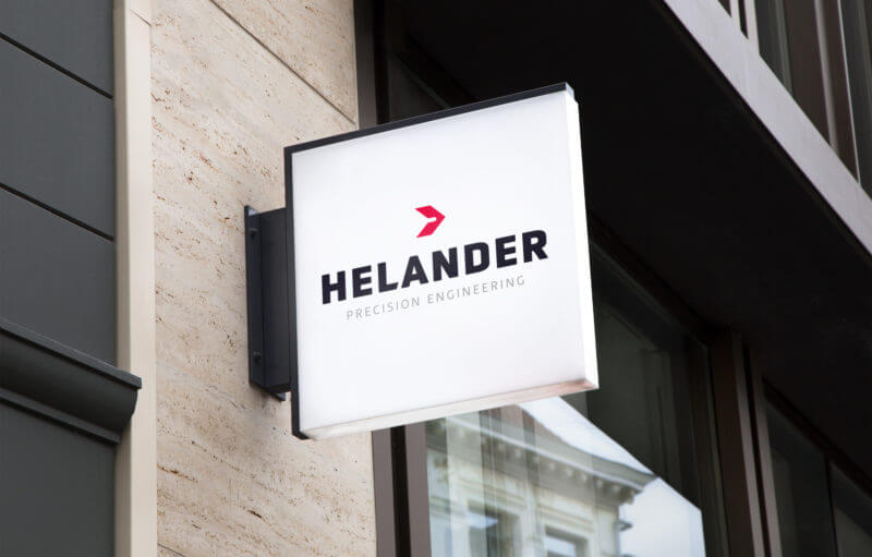 Helander Precision Engineering Brand Logo Design