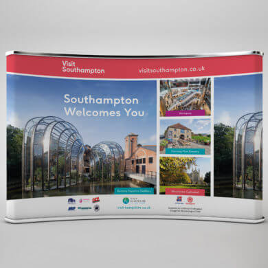 Southampton City Council Exhibition banner design