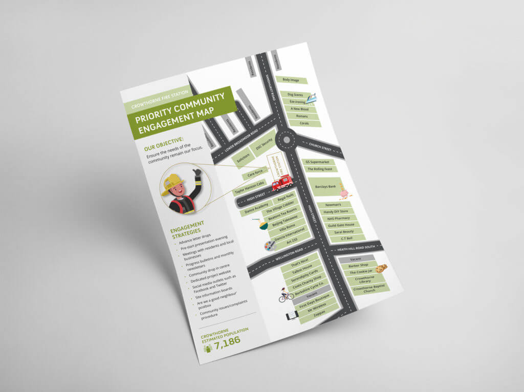 Crowthorne Fire Station Tender Community Map Design