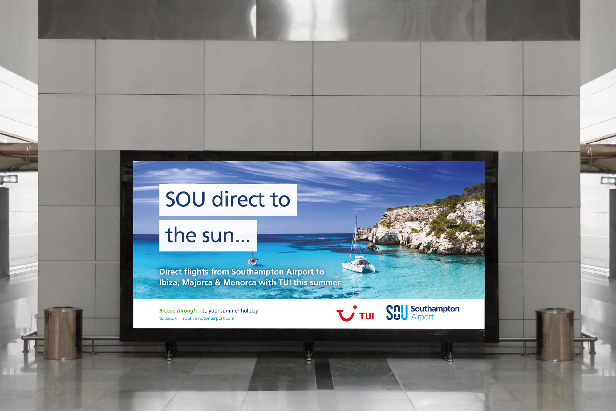 It's direct to the Balearics with Southampton Airport and TUI