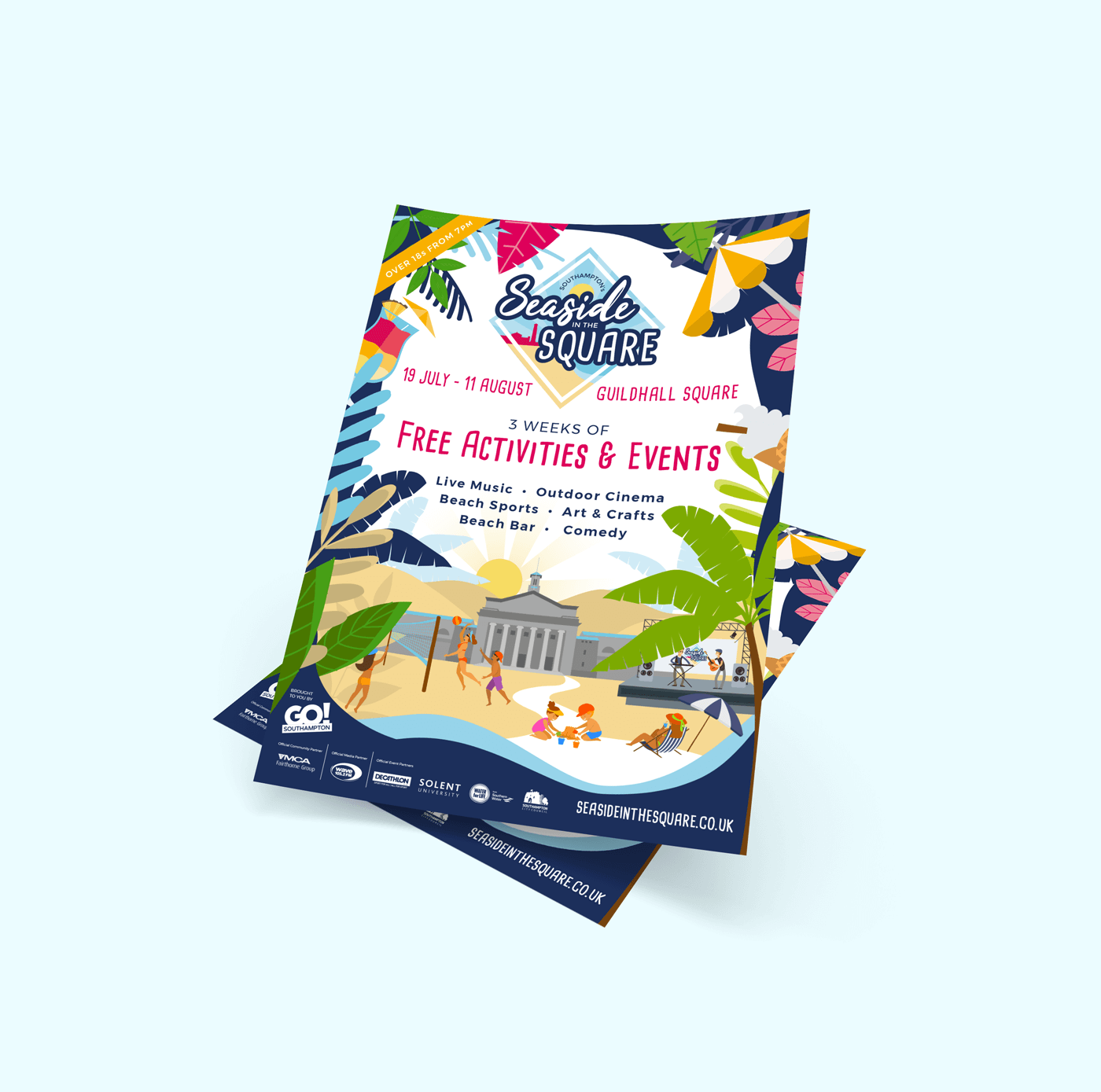 Seaside In the Square Posters Mockup