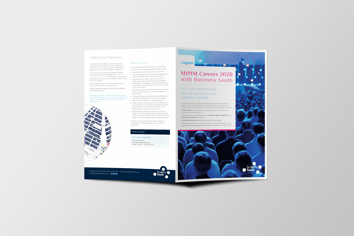 Business South Partner Pack Cover and Back Mockup