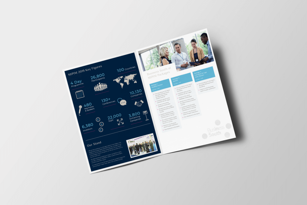 Business South Partner Pack Inside Spreads Mockup