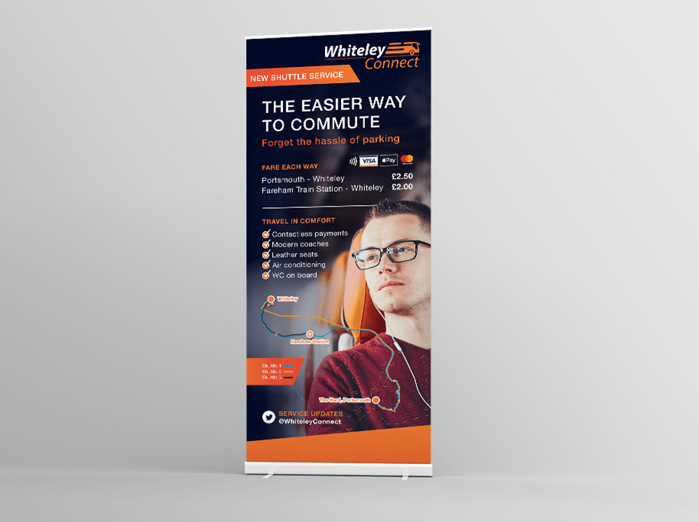 Whiteley Connect Pull up Banner