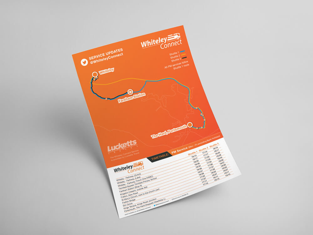 Whiteley Connect Flyer Reverse Design