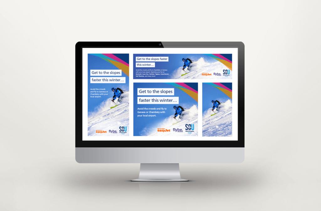 Southampton Airport Ski Campaign Digital Ads