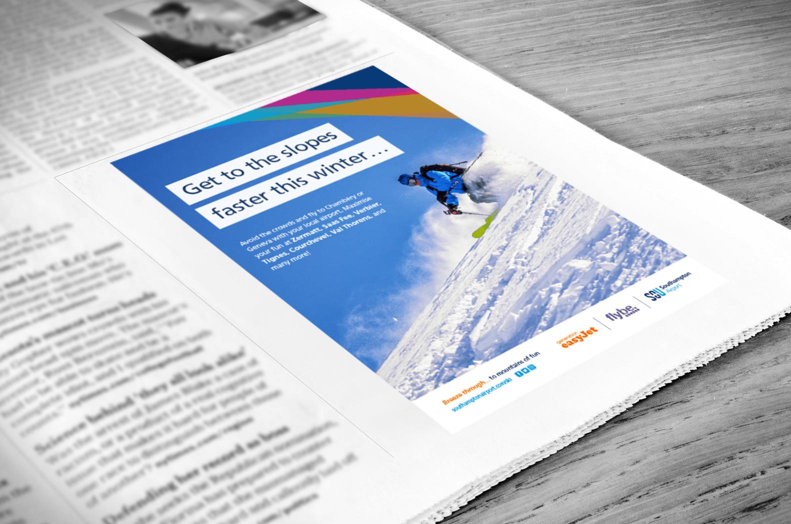 Southampton Airport Ski Campaign Print Ad