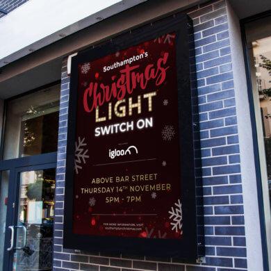 Go! Southampton Christmas CampaignDigital Screen