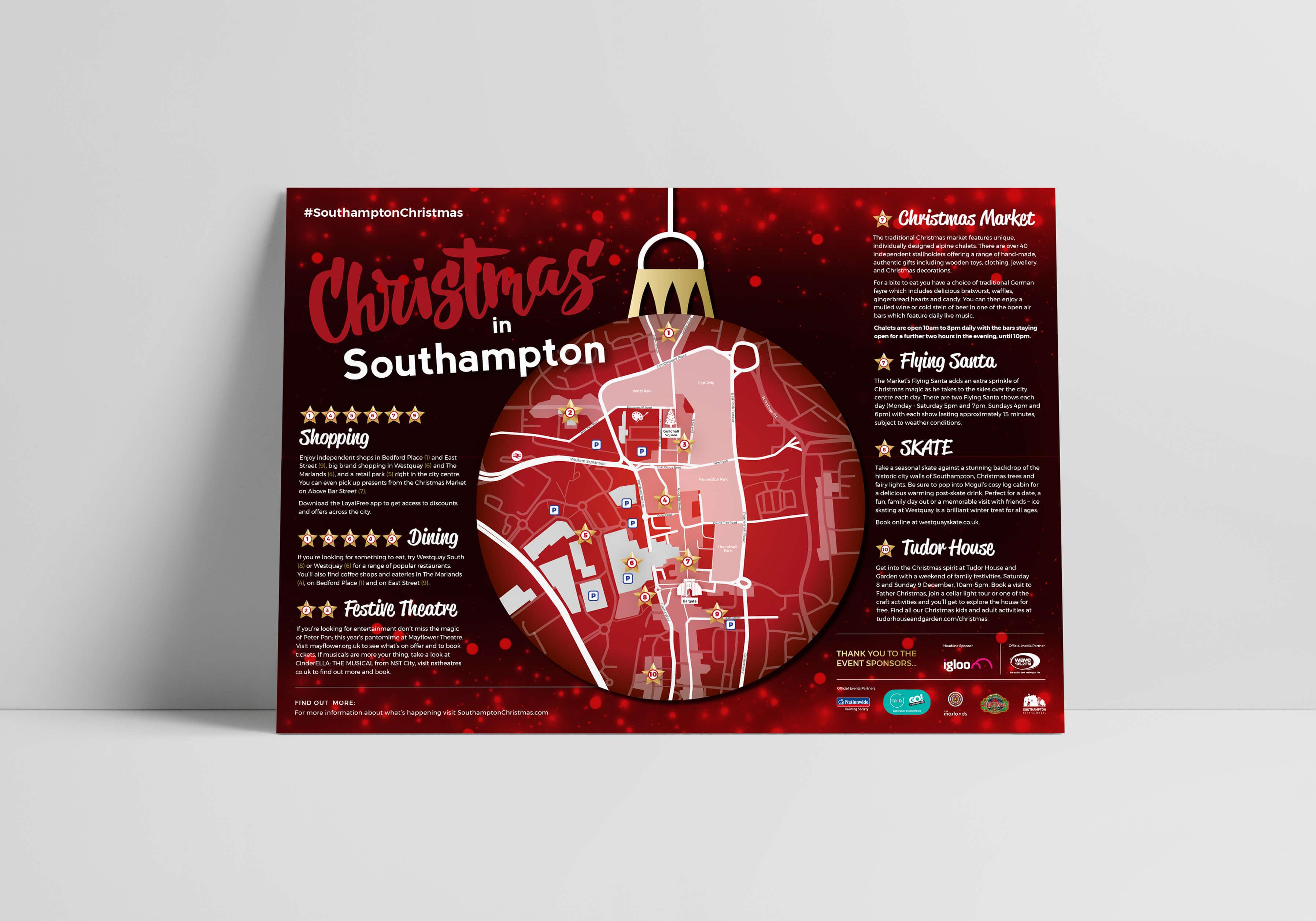 GO! Southampton Christmas Campaign Map