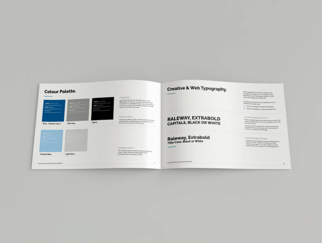 Francis Construction Brand Guidelines