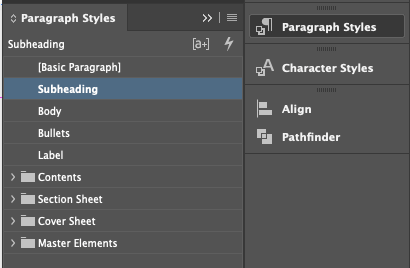 Top Tips for InDesign - styling