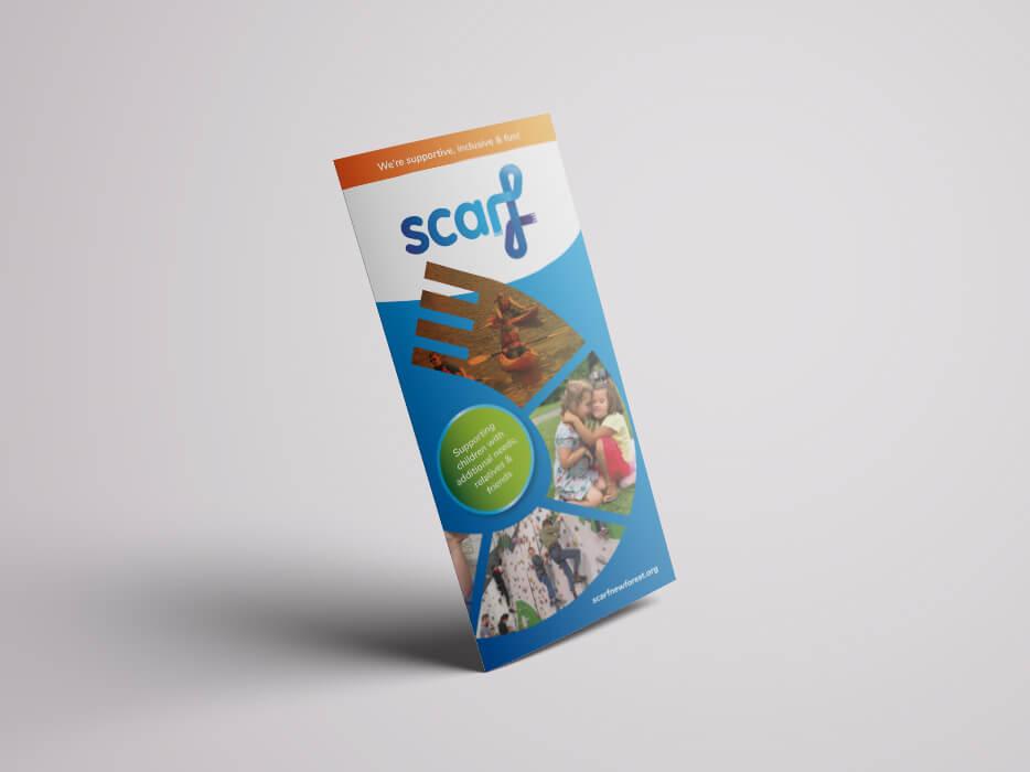 Scarf Charity Logo Rebrand Leaflet