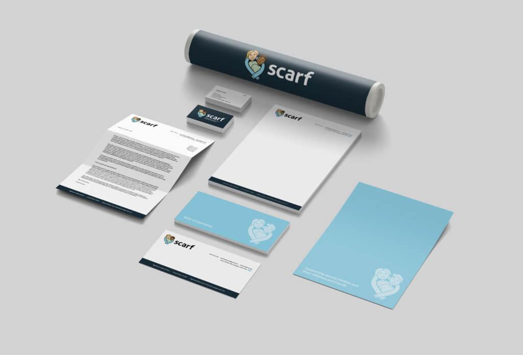 Scarf Rebrand Stationery