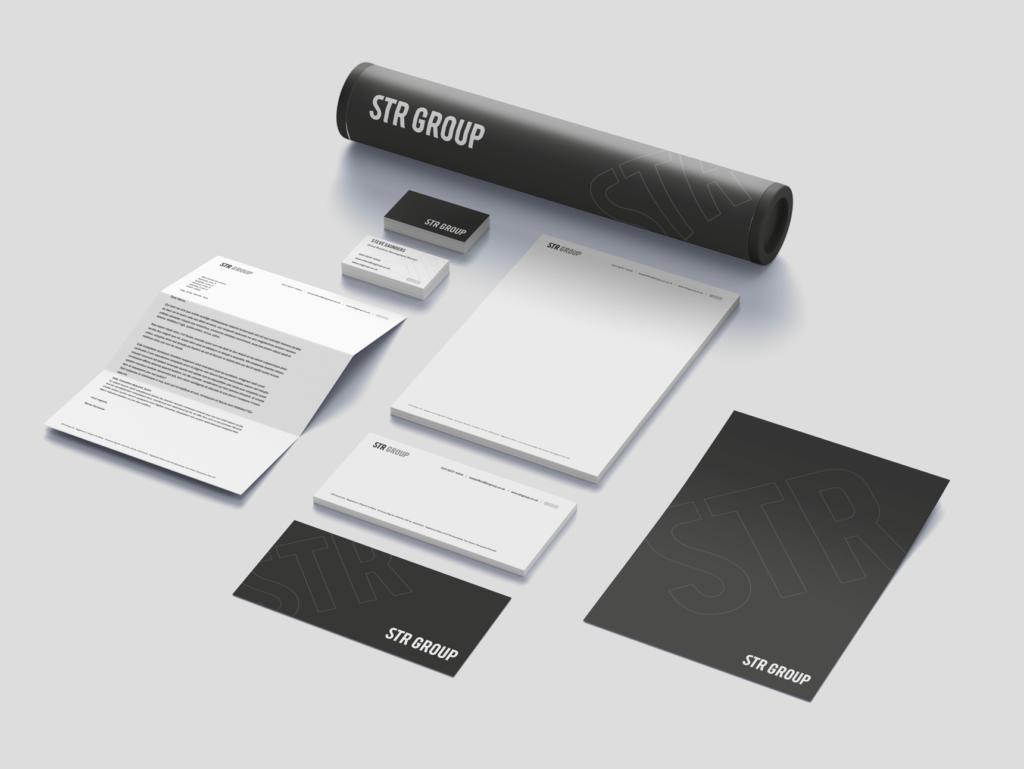 STR Group   Recruitment   Branding   Stationery