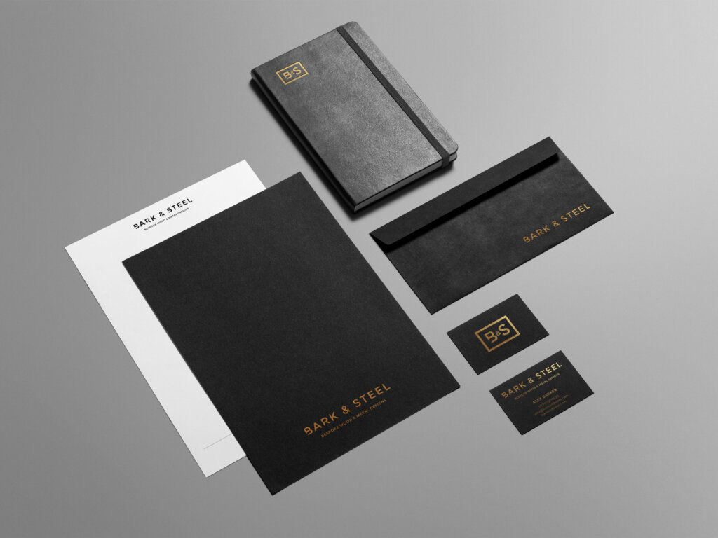 Bark & Steel | Bespoke Wood & metal Designs | Branding | Brand | Logo Design | Stationery