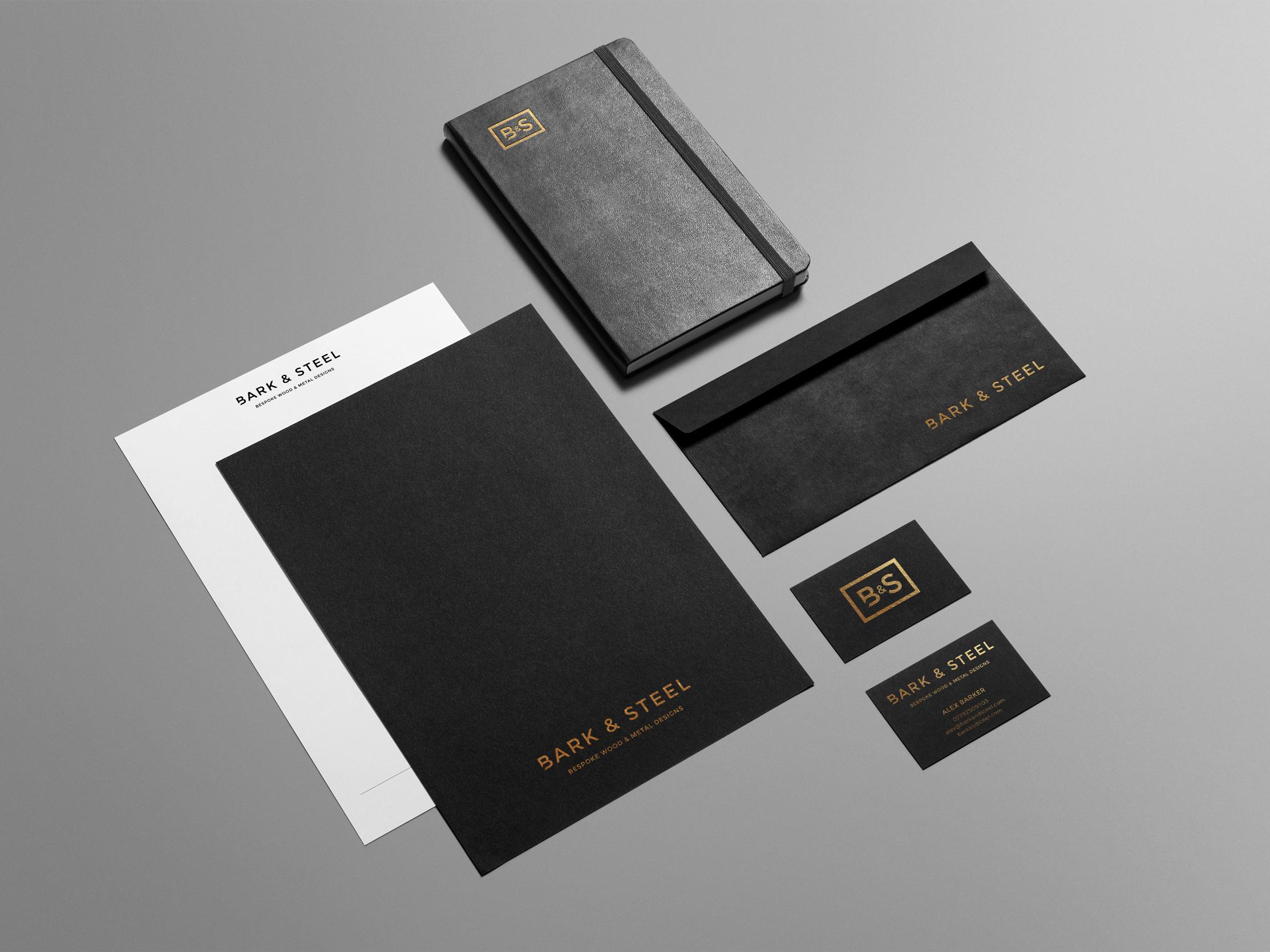 Bark & Steel   Bespoke Wood & metal Designs   Branding   Brand   Logo Design   Stationery