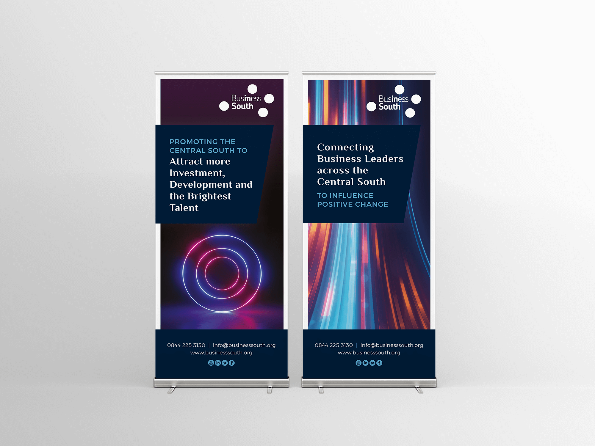 Business South | Exhibition Graphic | Pop Up Banner | Brand Styling