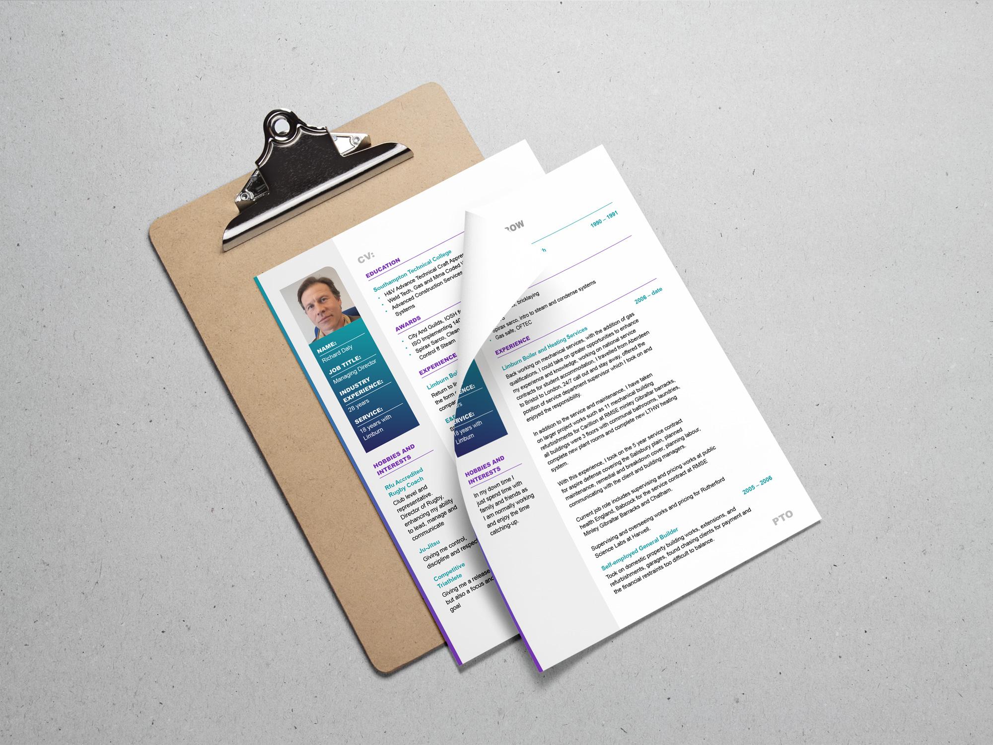 Limburn | Heating & Plumbing | Website Design | Responsive | Tender