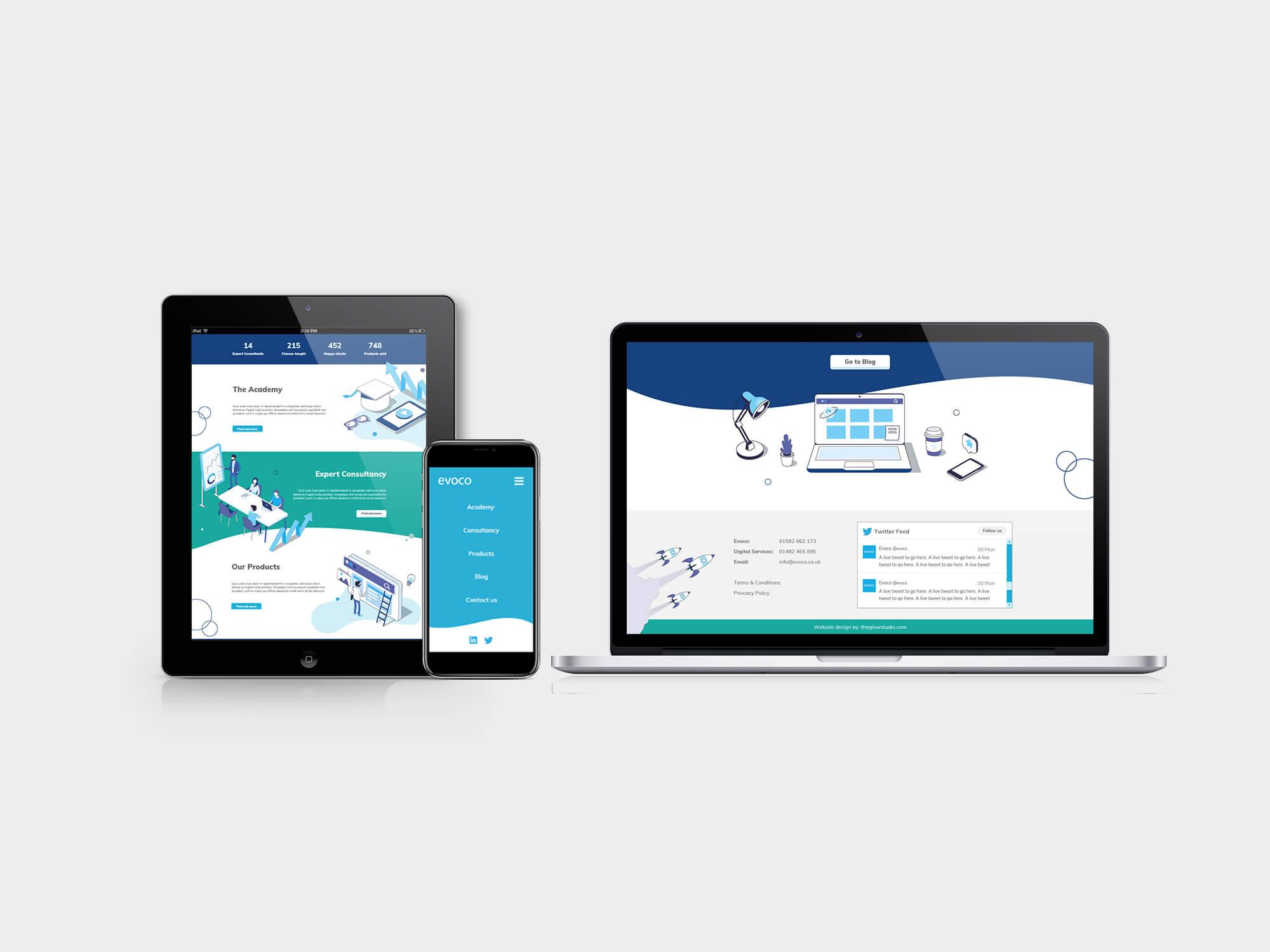 Evoco   Website Design   Responsive   Digital Design