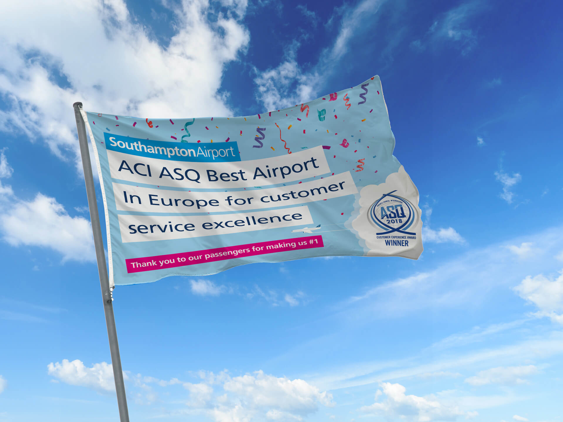 Southampton Airport | Flag | Signage | Promotion Material | Advertising
