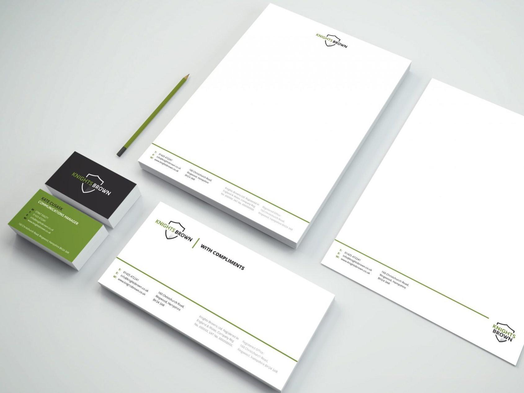 Knights Brown | Logo Design | Branding | Brand Design | Stationery