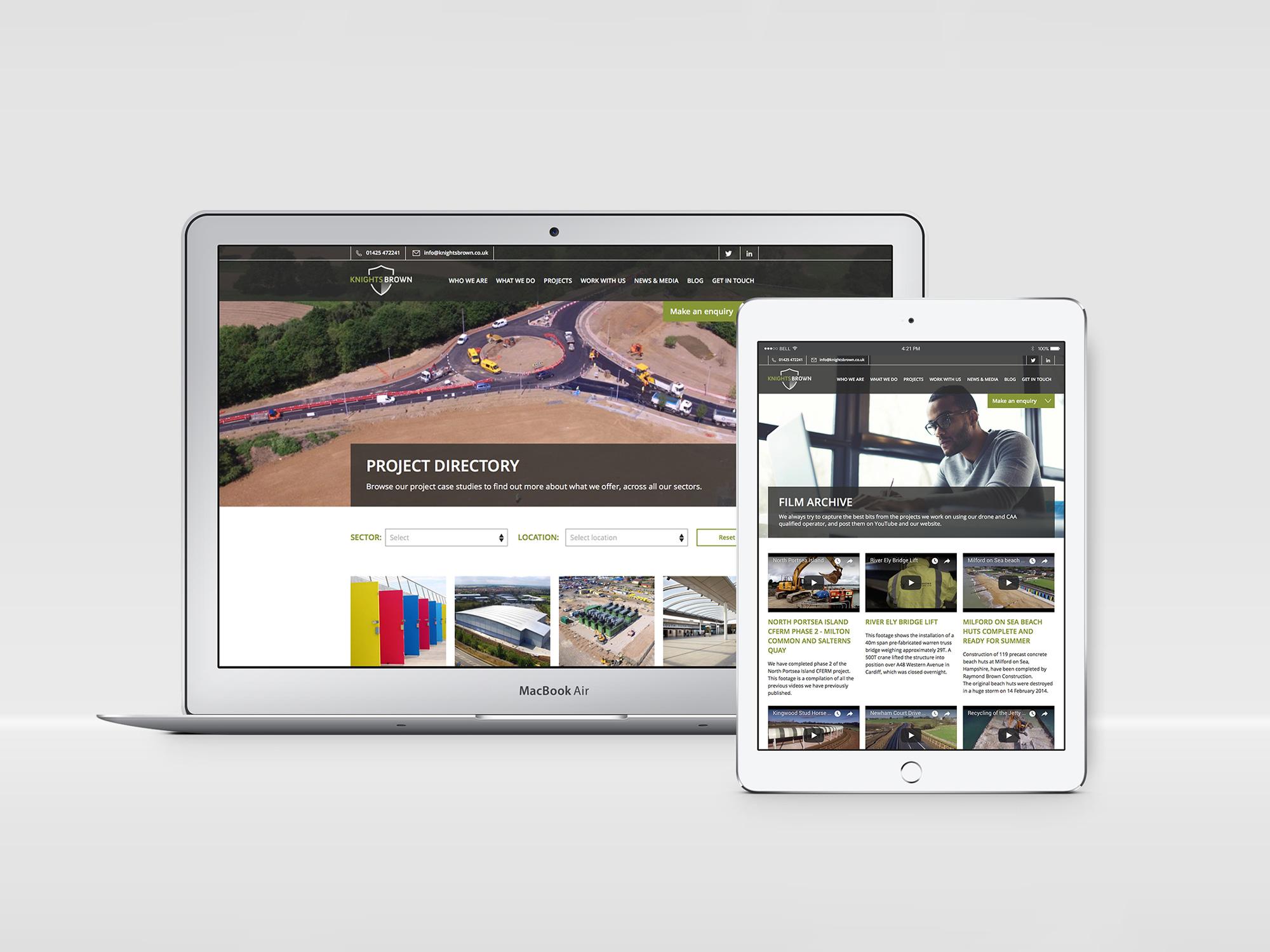 Knights Brown | Website Design | Digital